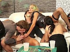 Best pornstars Adele Sunshine and Victoria Rose in exotic group sex, brazilian sex video