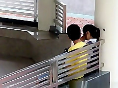 Asian college students caught fucking in school