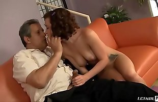 Dirty Naughty Sexy Step-Daughter Katie St. Ives Gets Caught Masturbating With Teddy By New Daddy Then Licks His Asshole!