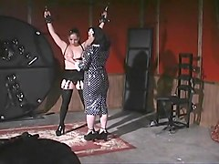 Morgan Monroe And Kim Lee Have Fun With Leather