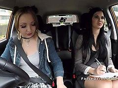 milf examiner sucks pierced pussy in car