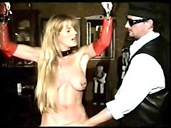 busty blonde enjoys spanking and flogging bdsm style