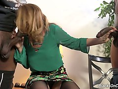 always sex-hungry whore kiki daire gets fucked by a duo of black guys