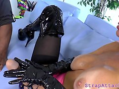 dominatrix milf punishes her black boyfriend