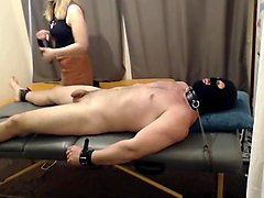 Ballbusting handjob and cbt  tickling