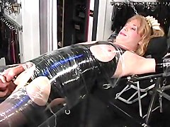 Blond Cross Dresser Tied Up And Tickled