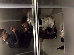 horny armenian girl suck her boyfriend dick in elevator