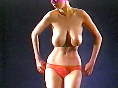 c'mon everybody - vintage jiggling huge tits dancer