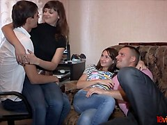 18 videoz - sweet foursome teen fucking