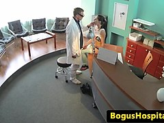 doctor fucks patients pussy in waiting room