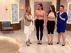Lovely huge asses in a tv underwear store - Callmepanty.com