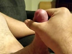 Throbbing edge session with little pre-cum  no finish
