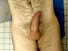 Hairy  uncut  throbbing and cumming up at you