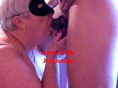 granny's cum in mouth after long blowjob