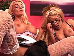 Exotic pornstars Louise Davis, Antonia Deona and Samantha Bentley in amazing masturbation, brazilian adult clip