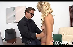 Sex-craving legal age teenager slut gets used by one more throbbing monster