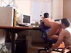 Ass worship on a chair