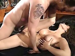 naughty and pretty brunette babe with hairy pussy wants anal sex