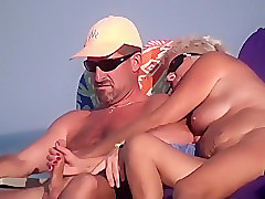 Pussy gets fingered and dick jerked off
