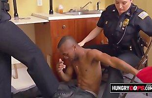 Tasting the suspect'_s big black dick