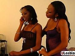 ebony lesbians toy their juicy beavers