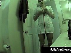 super hot nurse julia ann gets pussy fucked on hidden cam!