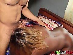 Black Babe I got from Nollyporn.com Enjoys Breast Fucking - NOLLYPORN