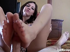 we will give you a nice little footjob after class