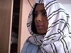 busty arab babe prepares for sex