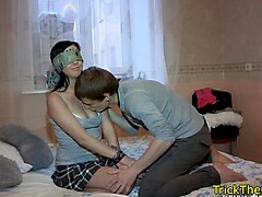 busty russian babe restrained and fucked