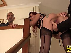 english ginger sub cockrides dom to pay debt