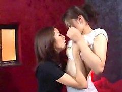 Amazing Japanese model Yukina Hirai, Mari Hida, Rina Himekawa in Crazy Cunnilingus, Fingering JAV clip