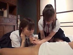 Incredible Japanese whore in Crazy Handjobs, Threesomes JAV video
