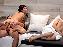 Ivy Lebelle & Kyle Mason in Secret Sauna Sex - Brazzers