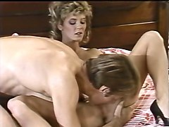 horny man eats pussy of his lean blonde girlfriend and fucks