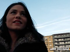 amazing aida sweet pushes her panties to the side to get fuc