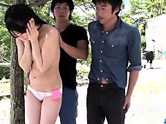 misaki oosawa blows dicks then fucks in perfect outdoor