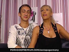 sextape germany - busty mature gets pussy licked hard