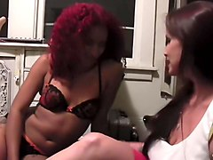 Bella Rossi and Daisy Ducati - Lip Lock and Strap Ons