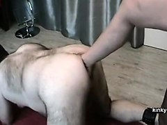anal femdom with her foot