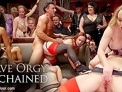 Aiden Starr & Lilith Luxe & Mona Wales & Mickey Mod in Slave Orgy Unchained - TheUpperFloor