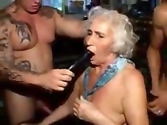 Granny cinema. fuck and piss in mouth 1