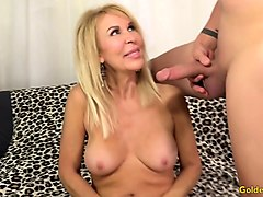 blonde grandmother erica lauren sucks and fucks a dopey guy