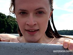 a day at the lake with rising porn star lucy huxley.