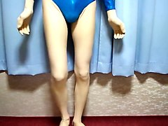txxx, leotards, blue, kigurumi, leotard