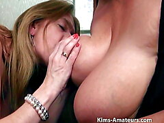Big boobed matures play together