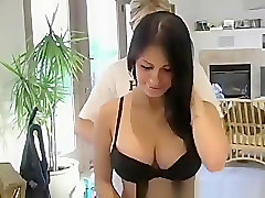 Blonde Gropes Beautiful Tits
