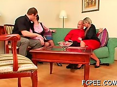 blonde swallows piss after bj
