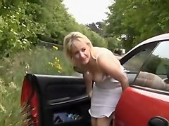 movies, blond, mature, outdoors, homemade