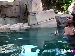 rahyndee backyard pool side pov fucking